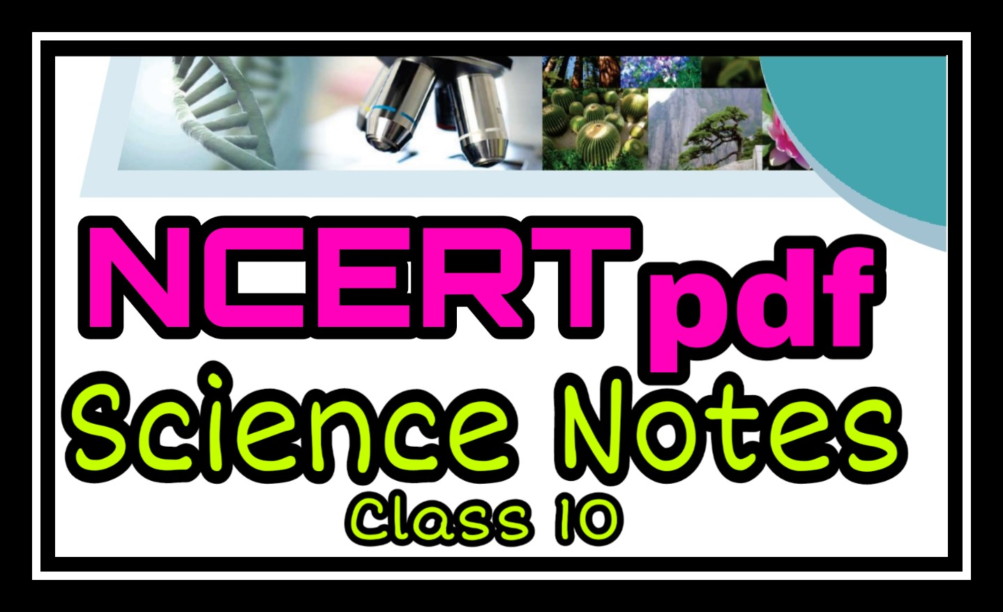 CLASS 10 SCIENCE NOTES PDF IN HINDI - Download pdf hindi enlgish